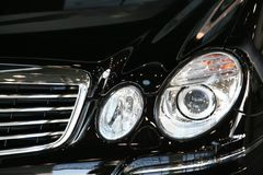 Front view of a mercedes car Stock Image