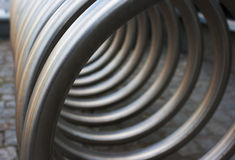 Front view of metal spiral Stock Images