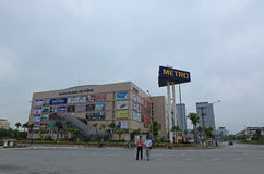 Front view of a Metro supermarket in Hanoi Stock Photography