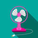 Front view of mini electric fan for home with button Royalty Free Stock Photography