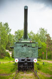 Front view of 305-mm railroad gun Stock Photography
