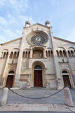Front view of Modena Cathedral, Italy Royalty Free Stock Photo