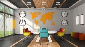 Front view of modern meeting room Royalty Free Stock Images