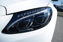 Front view modern tecnology car head light Stock Photography