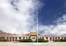 Front view of the Monastery at Druk White Lotus school campus Leh Royalty Free Stock Photography
