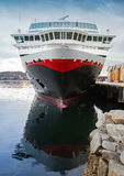 Front view of moored big modern cruise ship Stock Images