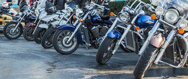 Front view of motorcycles Royalty Free Stock Image