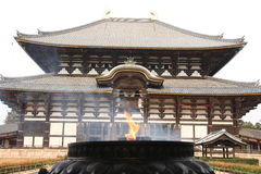 Front view of Nara temple, japan Royalty Free Stock Photo