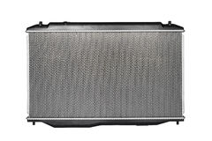 Front view of the new auto radiator Stock Image