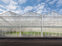 Front view of a new greenhouse Stock Images