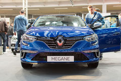 Front view of New Renault Megane GT car on Belgrade car show Stock Photos