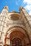 Front View Of Gothic Cathedral Royalty Free Stock Photos
