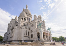 Front View Of Sacre Coeur Cathedral Stock Photography