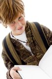 Front View Of Smiling School Child Reading Royalty Free Stock Photo