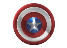 Free Front View Of The Shield Of Marvel Comic Character Captain America Royalty Free Stock Photography - 187849947