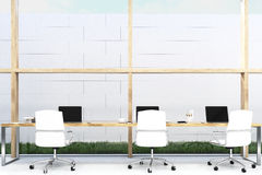 Front view of office with grass Stock Photos