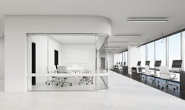 Front view of office with rounded corners conference room Royalty Free Stock Images