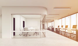 Front view of office with rounded corners conference room, toned Royalty Free Stock Image
