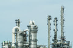 Front view of an oil refinery Royalty Free Stock Image