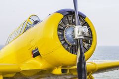 Front View of Old Airplane Royalty Free Stock Image