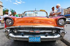 Front view of an old Chevrolet  in Havana Royalty Free Stock Photo