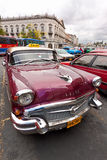 Front view of an old Chevrolet  in Havana Royalty Free Stock Images