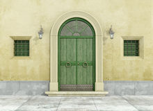Front view of an old facade Stock Photography