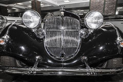 Front view of an old-fashioned car brands Horch Stock Photo
