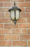 Front view of Old Lamp on Wall. Front view of Old Lamp Stock Photography
