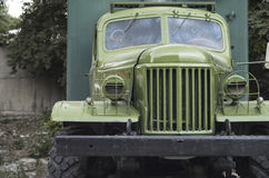 Front view from an old military truck Stock Photography