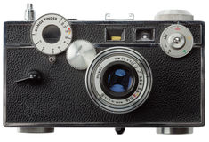 Front view of old rangefinder camera Stock Image