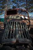 Front view of old rusty car Stock Photography