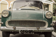 Front view of an old vintage retro classic car Stock Image