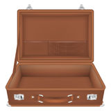 Front view of open suitcase travel bag Stock Photo
