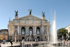 Front view of the Opera Theatre Royalty Free Stock Image