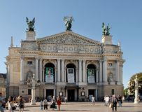 Front view of the Opera Theatre Stock Images