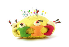 Front view oriental pin cushion Royalty Free Stock Images