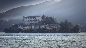 Front view of Orta San Giulio - Lake Orta royalty free stock images