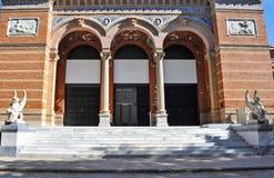 Front view of Palacio de Velazquez Royalty Free Stock Photos