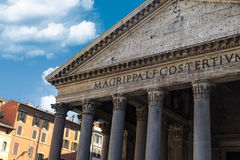Front View of Pantheon Stock Photo