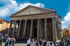 Front View of Pantheon Stock Photography
