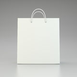 Front view of paper bag package. 3d rendering Stock Photography