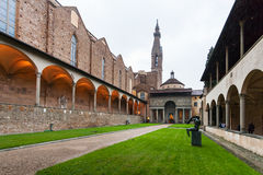 Front view of Pazzi Chapel in Arnolfo cloister Stock Image