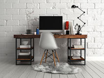 Front View of Personalized Architectural Worktable Stock Image
