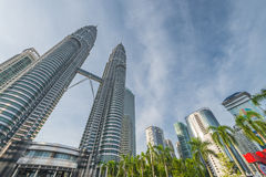 Front view of Petronas Twin towers Royalty Free Stock Image