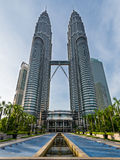 Front view of Petronas Twin towers Royalty Free Stock Photography