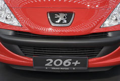 Front view on Peugeot car 206+ Royalty Free Stock Photos