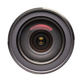 Front view on photo lens (isolated) Stock Images