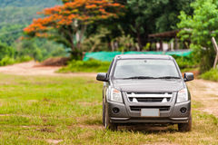 Front view of pick-up truck Royalty Free Stock Images