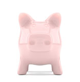 Front view of piggy bank Royalty Free Stock Photos